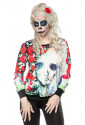 Women printed hoodie with print of ghost
