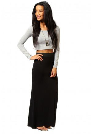 Maxi čierna sukňa