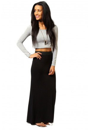 Maxi dlhá sukňa - čierna
