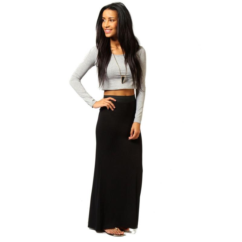a0b184d79a63 Maxi čierna sukňa - SELECTAFASHION.COM
