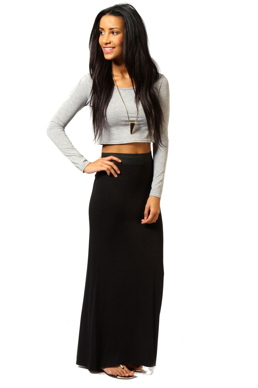4256eba77b09 Maxi čierna sukňa - SELECTAFASHION.COM