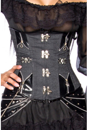 Combined steampunk corset