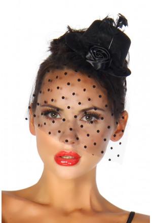 Black minihat fascinator