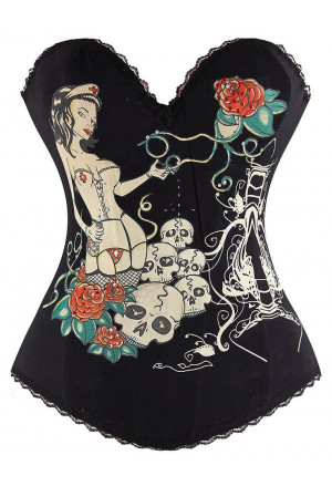 Tattoo print corset Magic Women