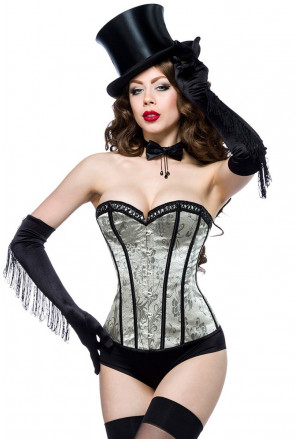 Gray - green burlesque inspirated corset