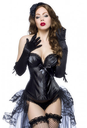 High quality black corset