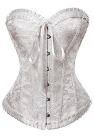 Elegant womens prom brocade corset