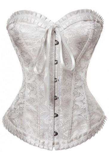 Elegant womens brocade corset with zipper