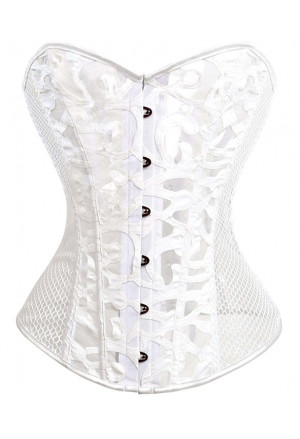 Charming black corset with mesh