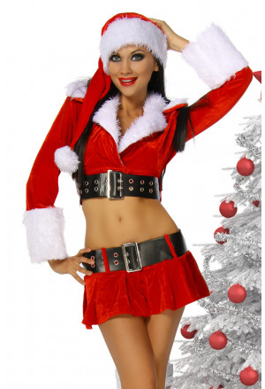 Beautiful velvet Santa costume Girl