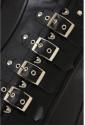 Luxusný punkový koženkový korzet s opaskami