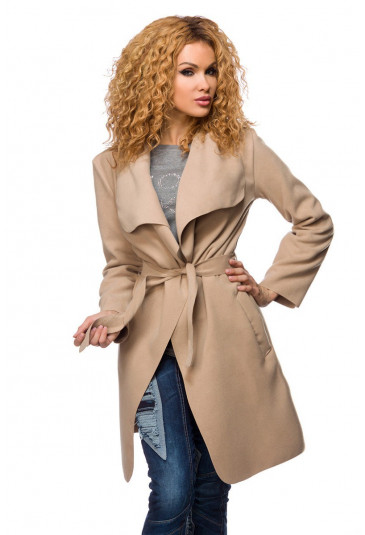 Transient fashion trench coat