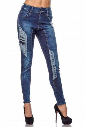 Extravagantné džínsy s čipkou - SELECTAFASHION.COM b03741f03f0
