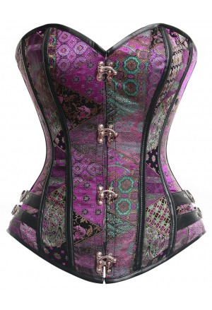 Steel boned steampunk corset Color Exklusive