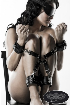 Pair of bondage faux handcuffs