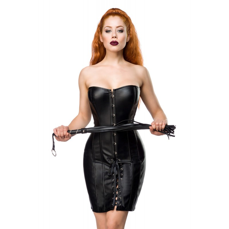 8d3ca1fa437 Rafinované čierne korzetové šaty - SELECTAFASHION.COM