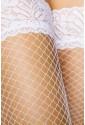 White fishnet lace stockings