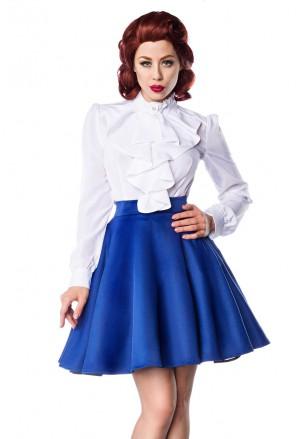 Výrazná modrá rockabilly sukňa