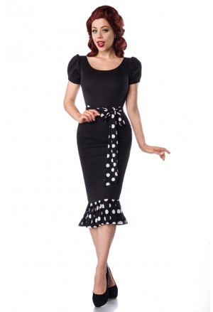 Jersey šaty v retro štýle
