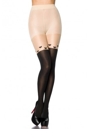 High quality fine nylon stockings HEARTS