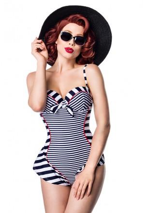 Stripe vintage onepiece swimwear by Ophelia Overdose