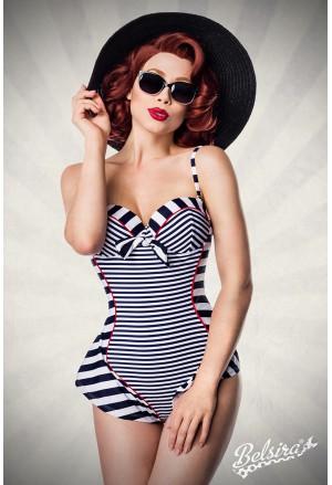 Stripe vintage onepiece swimwuit monokini by Ophelia