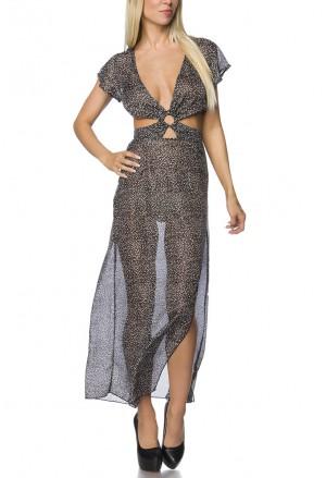 Priehľadné cut out šaty
