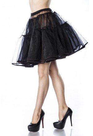 Knee lentght black underskirt Belsira