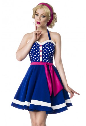 Dots vintage halter sweetheart dress