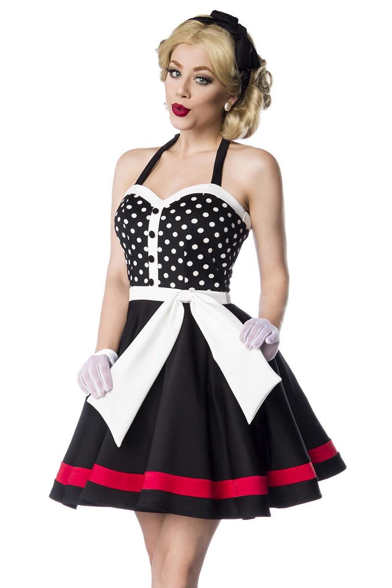 19d37adca447 Skvelé bodkované vintage šaty na ramienka - SELECTAFASHION.COM