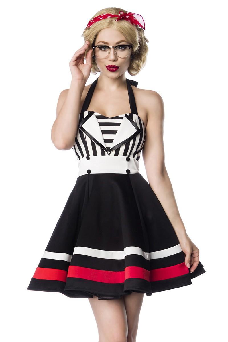 6dd61b06224f Spoločenské pinup retro čierne šaty Belsira - SELECTAFASHION.COM