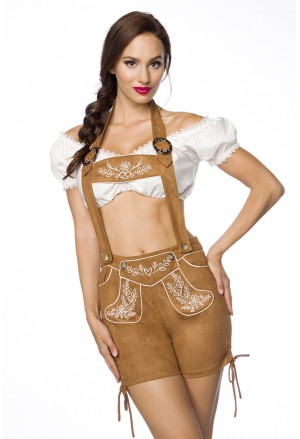 Traditional folk dirndl short halter pants