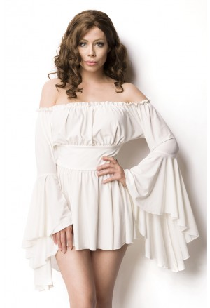 Angel godmother white long sleeves dress - blouse