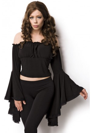 Beautiful historical off shoulder pirate blouse