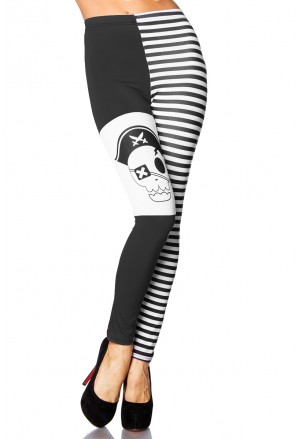 Pirate look print leggings