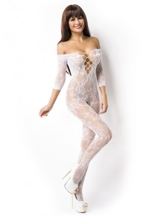 White lace bodystockings
