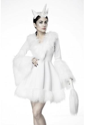 Glamour Unicorn white dress costume