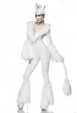 Divadelný kostým biely jednorožec