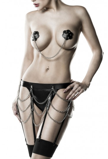 Cheek perverse Domina lingerie set Grey Velvet
