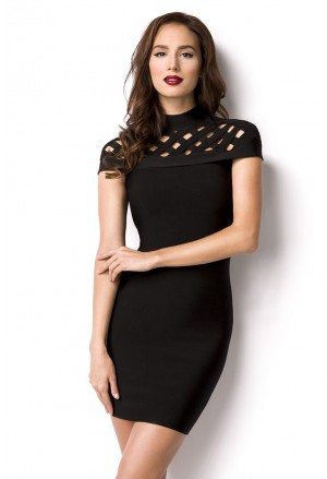 Black bandage shaped dress with cutouts