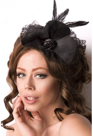Retro black mini hat fascinator