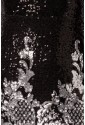 Short prom black silver sequins Art Nouveau dress