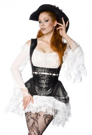 Punk elaborate underbust corset pirate