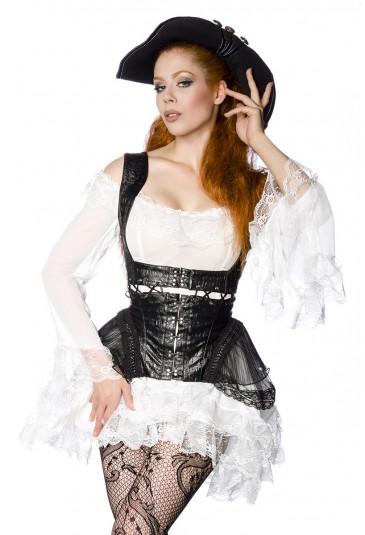 Punk elaborate underbust corset pirate