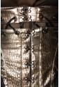 Punkový pirátsky zlatý korzet pod prsia