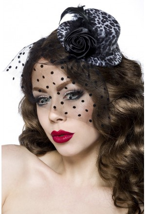 Leopard women minihat fascinator
