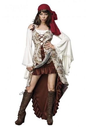 Romantic women bride pirate costume