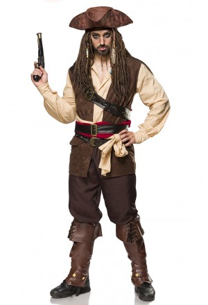 Sexi men Captain Jack Costume Set