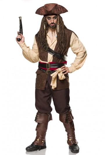 Kompletný kostým pre pánov Captain Jack Sparrow