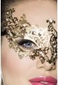 Nezvyčajná kovová maska s kamienkami